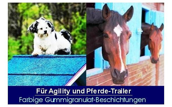 agility gummigranulat, agility geräte gummi beschichtung, hund agility belag